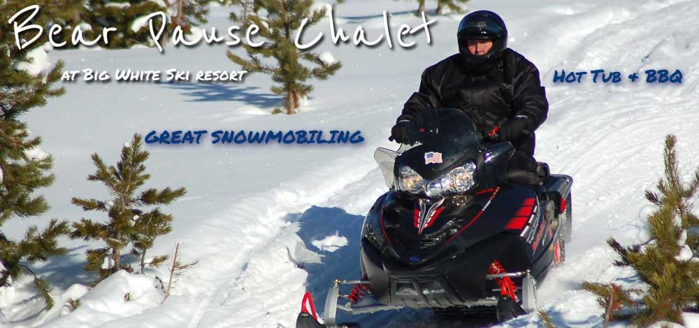 Snowmobiling at Big White